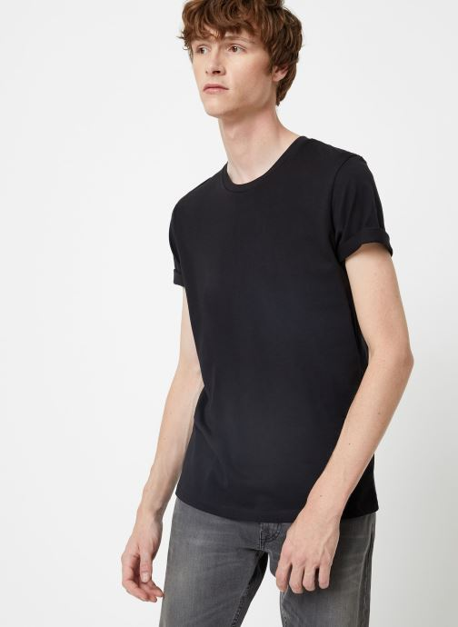 Vêtements Selected Homme Slhtheperfect Tee Noir vue détail/paire