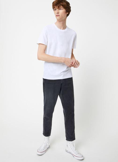Vêtements Selected Homme Slhtheperfect Tee Blanc vue bas / vue portée sac