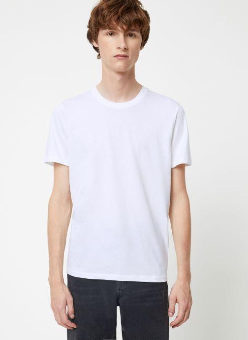 Vêtements Selected Homme Slhtheperfect Tee Blanc vue droite