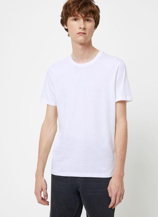 Vêtements Selected Homme Slhtheperfect Tee Blanc vue détail/paire
