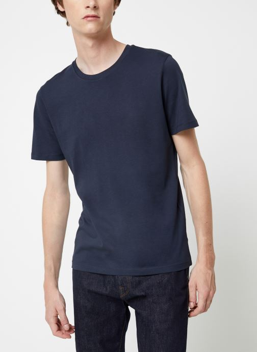 Vêtements Selected Homme Slhtheperfect Tee Bleu vue droite