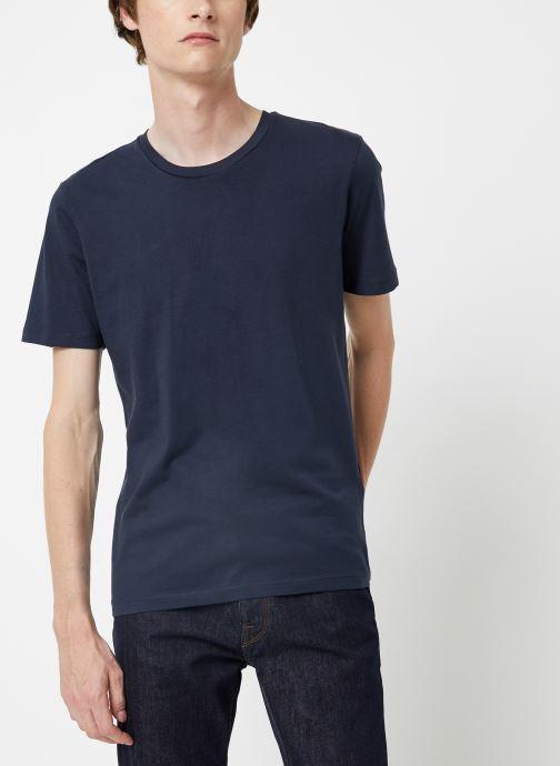 Vêtements Selected Homme Slhtheperfect Tee Bleu vue détail/paire