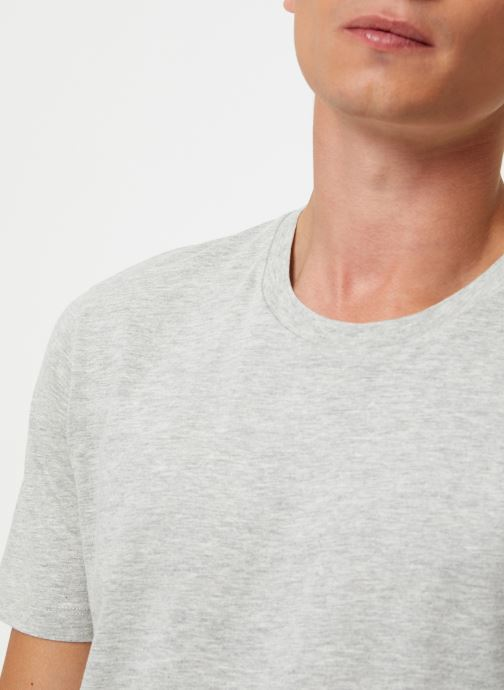 Vêtements Selected Homme Slhtheperfect Tee Gris vue face