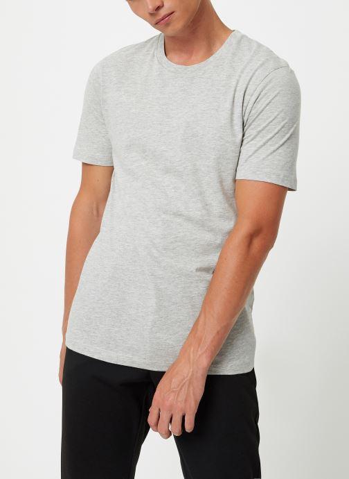 Vêtements Selected Homme Slhtheperfect Tee Gris vue droite