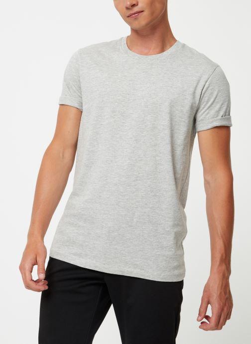 Vêtements Selected Homme Slhtheperfect Tee Gris vue détail/paire