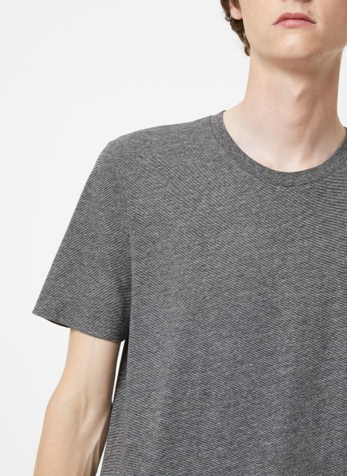 Vêtements Selected Homme Slhtheperfect Mel Tee Noir vue face