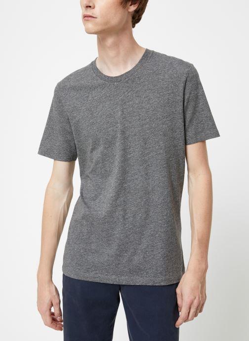 Vêtements Selected Homme Slhtheperfect Mel Tee Noir vue droite