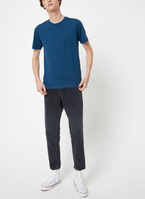 Vêtements Selected Homme Slhtheperfect Mel Tee Bleu vue bas / vue portée sac