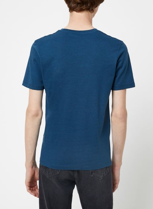 Vêtements Selected Homme Slhtheperfect Mel Tee Bleu vue portées chaussures