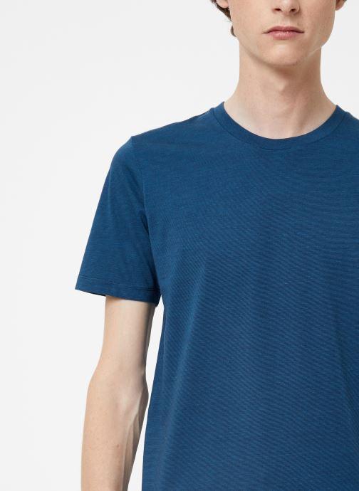 Vêtements Selected Homme Slhtheperfect Mel Tee Bleu vue face