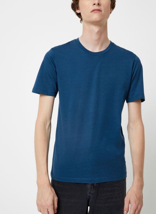 Vêtements Selected Homme Slhtheperfect Mel Tee Bleu vue droite