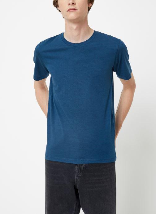 Vêtements Selected Homme Slhtheperfect Mel Tee Bleu vue détail/paire