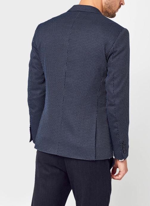 Vêtements Selected Homme Slhslim-Make Blazer Bleu vue portées chaussures