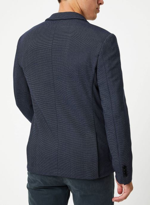 Vêtements Selected Homme Slhslim-Hiken Blazer Bleu vue portées chaussures