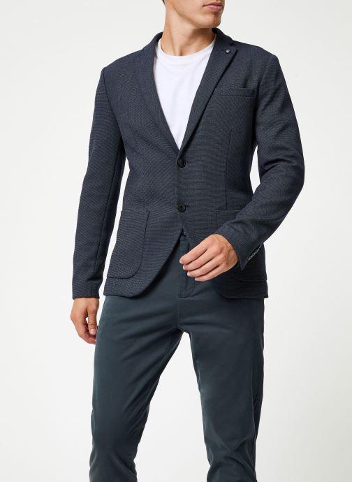 Vêtements Selected Homme Slhslim-Hiken Blazer Bleu vue droite