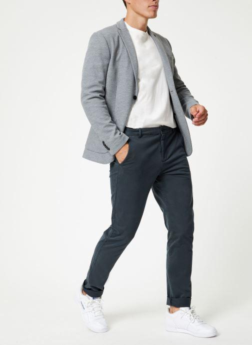Vêtements Selected Homme Slhslim-Hiken Blazer Gris vue bas / vue portée sac