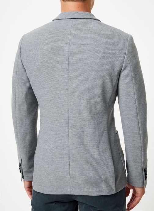 Vêtements Selected Homme Slhslim-Hiken Blazer Gris vue portées chaussures
