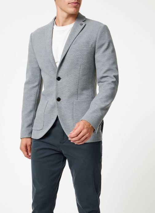 Vêtements Selected Homme Slhslim-Hiken Blazer Gris vue droite