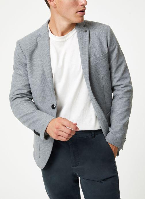 Vêtements Selected Homme Slhslim-Hiken Blazer Gris vue détail/paire