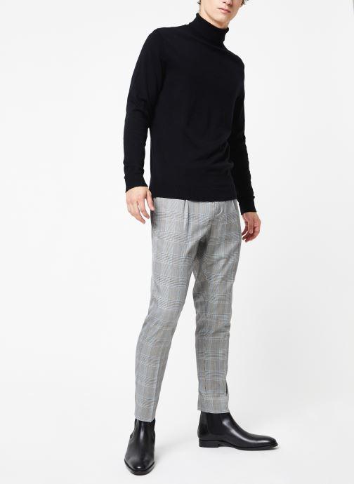Kleding Selected Homme Slhtower Roll Neck Knit Zwart onder
