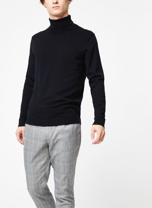 Kleding Selected Homme Slhtower Roll Neck Knit Zwart rechts