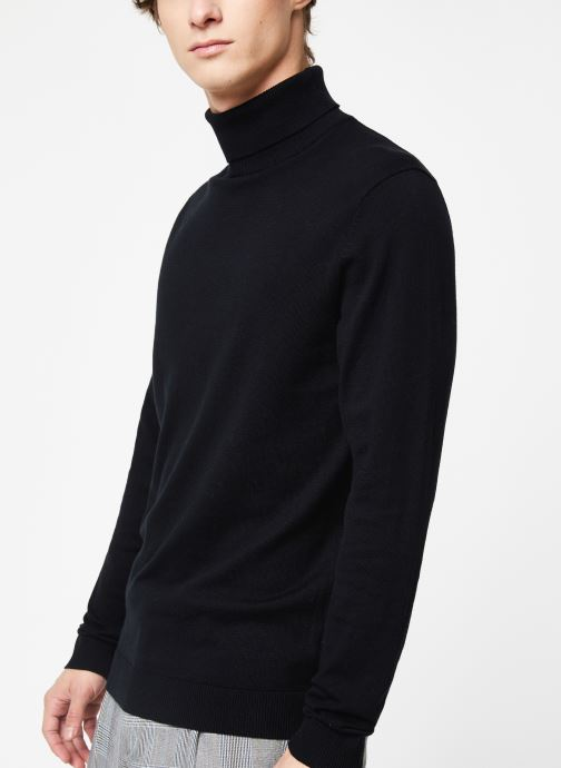 Kleding Selected Homme Slhtower Roll Neck Knit Zwart detail