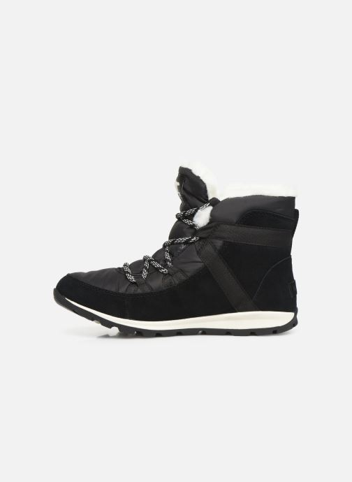 Botines  Sorel Whitney Flurry Negro vista de frente