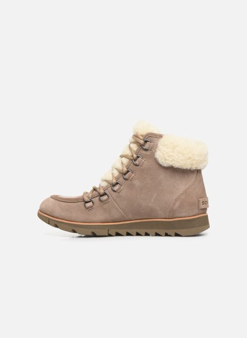 Botines  Sorel Harlow Lace Cozy Marrón vista de frente