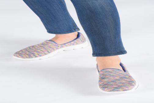 Sneakers Skechers Go Walk Evolution Ultra-Frenz Rosa immagine dal basso