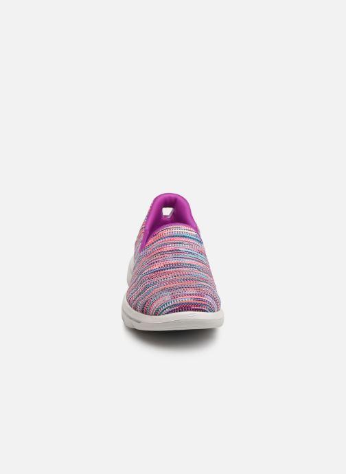 Baskets Skechers Go Walk Evolution Ultra-Frenz Rose vue portées chaussures