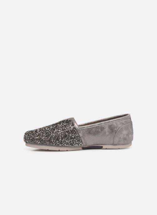 Slipper Skechers Luxe Bobs-Glitterville grau ansicht von vorne