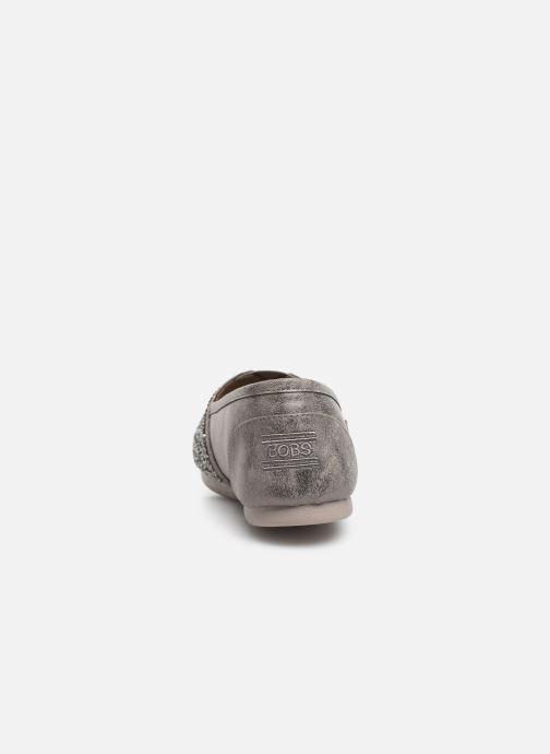 Slipper Skechers Luxe Bobs-Glitterville grau ansicht von rechts