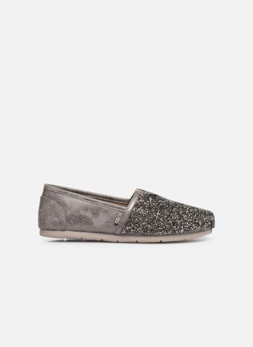 Slipper Skechers Luxe Bobs-Glitterville grau ansicht von hinten