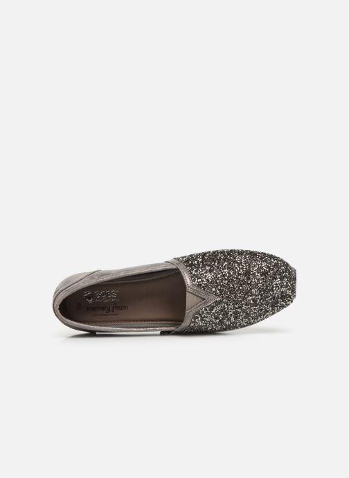 Slipper Skechers Luxe Bobs-Glitterville grau ansicht von links