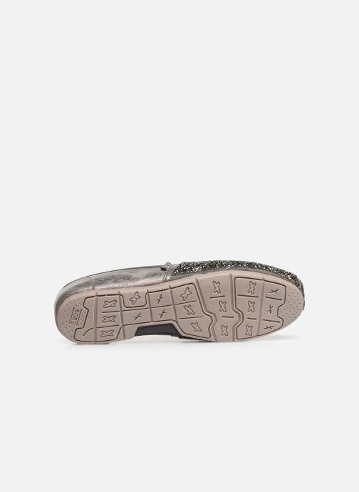 Slipper Skechers Luxe Bobs-Glitterville grau ansicht von oben
