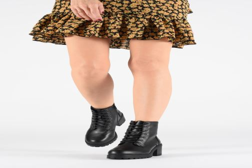 Ankle boots I Love Shoes THALACET Black view from underneath / model view