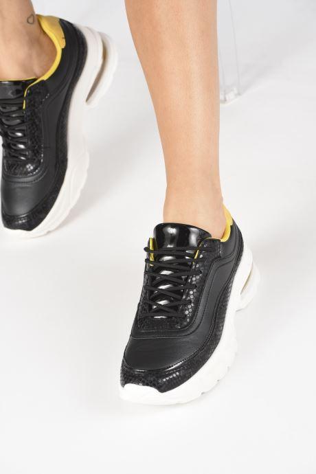 Baskets I Love Shoes THULLE Noir vue bas / vue portée sac