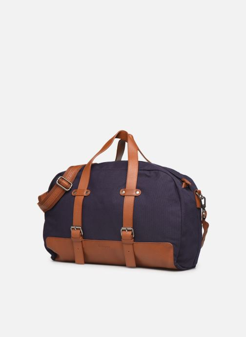 Bagages Antonyme by Nat & Nin Sac Weekend DRIES Bleu vue portées chaussures