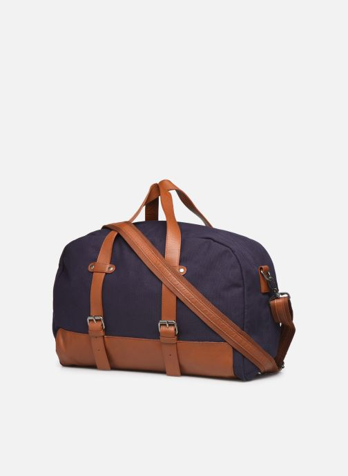 Luggage Antonyme by Nat & Nin Sac Weekend DRIES Blue view from the right