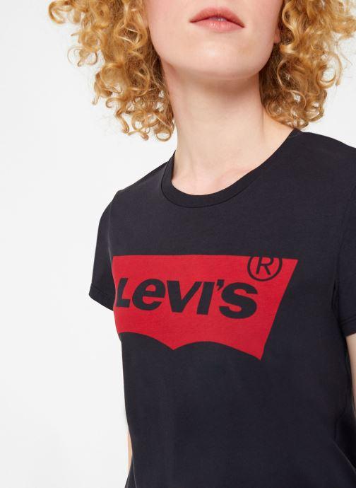 Kleding Levi's The Perfect Tee W Zwart voorkant