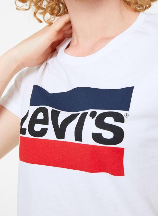 Vêtements Levi's The Perfect Tee W Blanc vue face