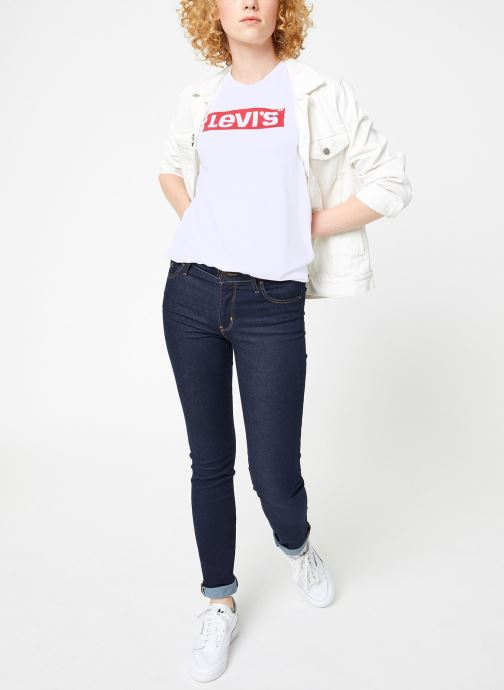 Vêtements Levi's The Perfect Tee W Blanc vue bas / vue portée sac
