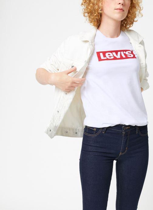 Vêtements Levi's The Perfect Tee W Blanc vue détail/paire
