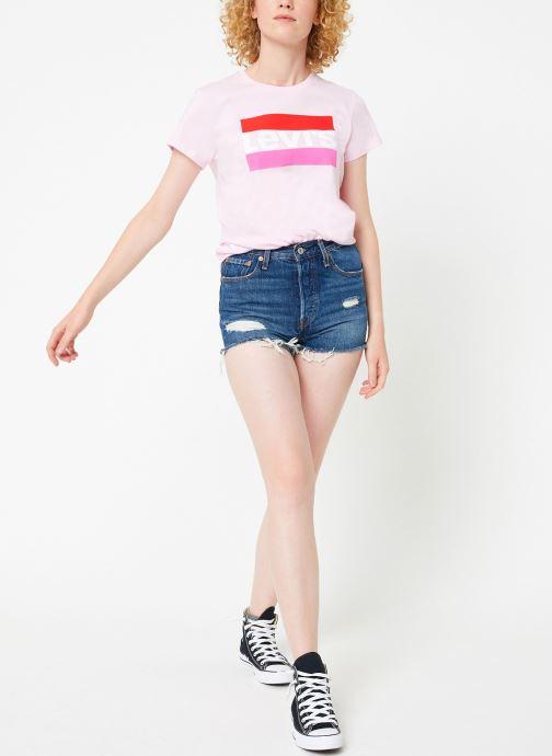 Vêtements Levi's The Perfect Tee W Rose vue bas / vue portée sac