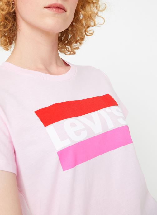 Kleding Levi's The Perfect Tee W Roze voorkant