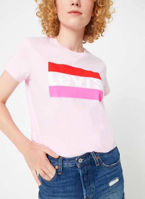 Kleding Levi's The Perfect Tee W Roze detail