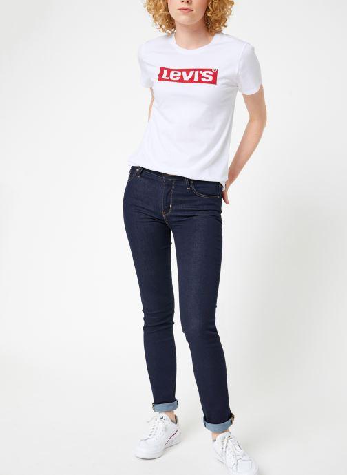 Vêtements Levi's 712 Slim W Noir vue bas / vue portée sac