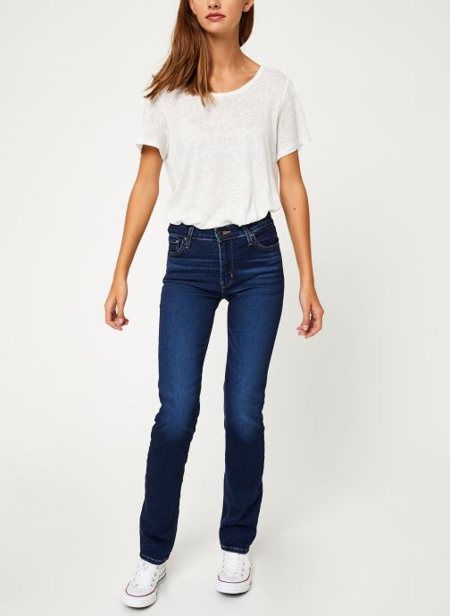 Vêtements Levi's 712 Slim W Bleu vue bas / vue portée sac