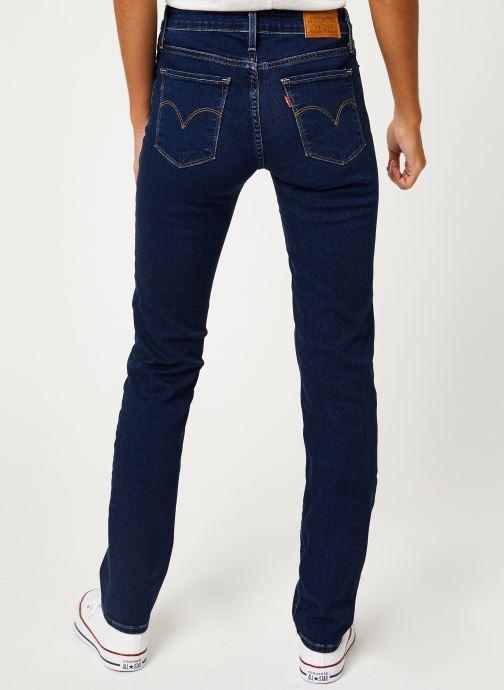 Vêtements Levi's 712 Slim W Bleu vue portées chaussures