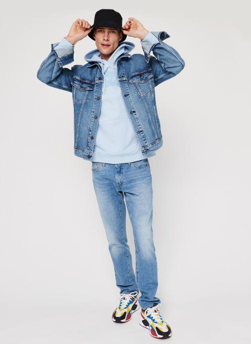 Vêtements Levi's Graphic Po Hoodie Logo M Bleu vue bas / vue portée sac